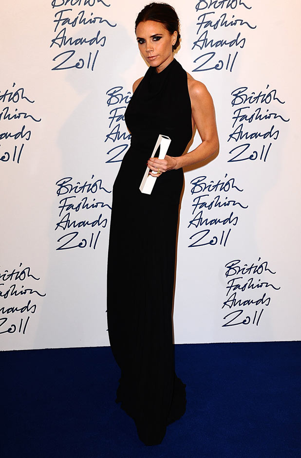 Victoria Beckham with the Designer Brand award