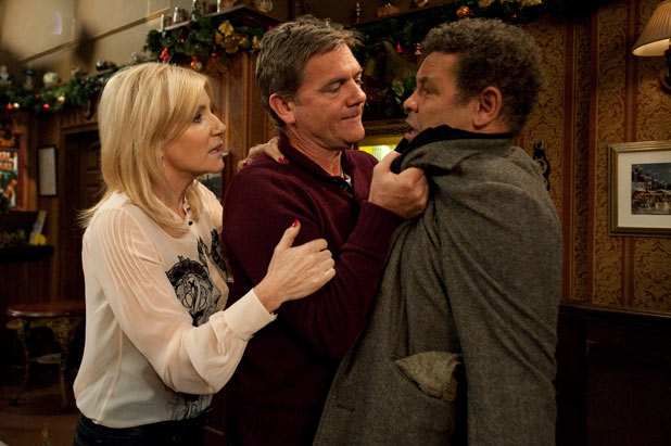 Karl confronts Lloys after believing he is having an affair with Stella