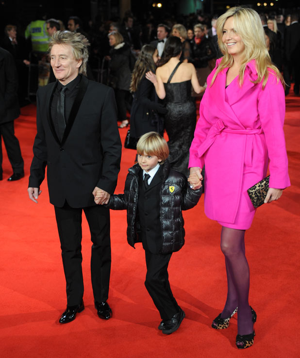 Rod Stewart and his family