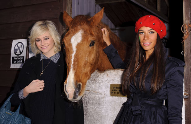 Pixie Lott and Leona Lewis attend the Hopefield Animal Sanctuary Christmas Fundraising Fair