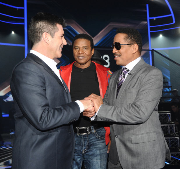 Simon Cowell, Jermaine Jackson and Marlon Jackson
