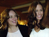 Marcheline Bertrand and Angelina Jolie