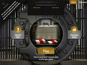 Screenshot from online game 'Bank Job'