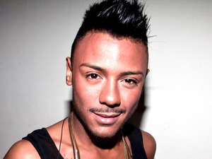 Marcus Collins backstage at the X Factor