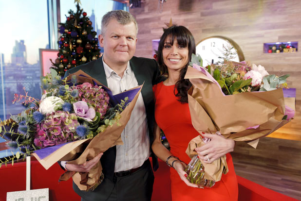 Christine Bleakley and Adrian Chiles on 'Daybreak'