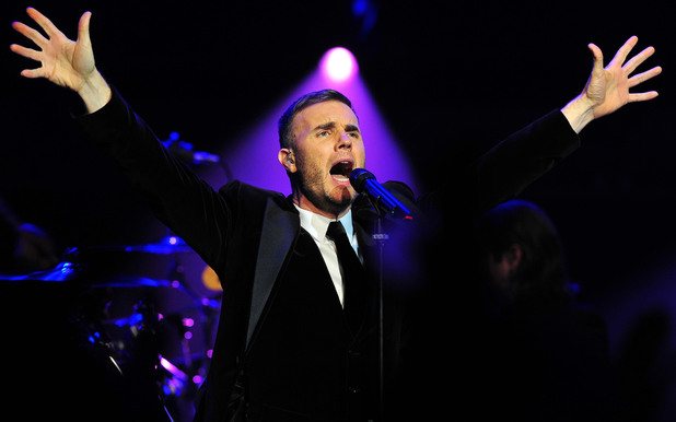 Gary Barlow performs at the Royal Albert Hall