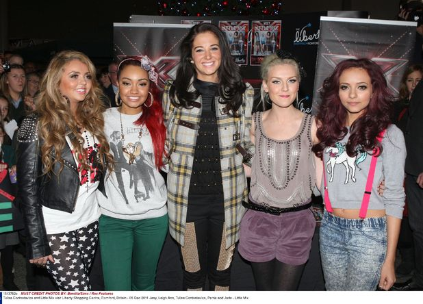 Tulisa Contostavlos and Little Mix visit Liberty Shopping Centre, Romford
