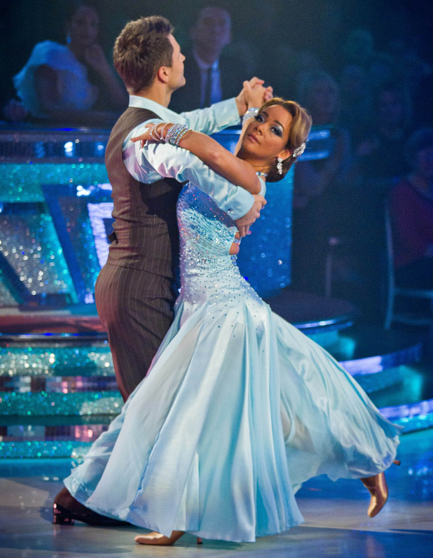 Chelsee and Pasha show off their ballroom