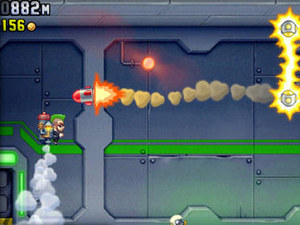 Screenshot of Jetpack Joyride on IOS