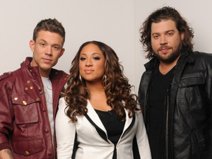 The final three contestants Chris Rene, Melanie Amaro and Josh Krajcik