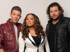 The final three contestants Chris Rene, Melanie Amaro and Josh Krajcik