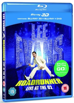 Lee Evans Roadrunner Blu-Ray artwork