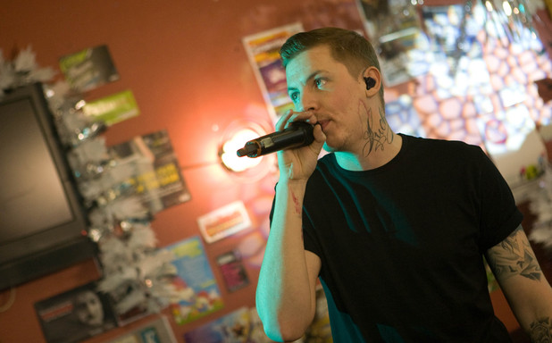 Professor Green performs at the SU Bar Hollyoaks