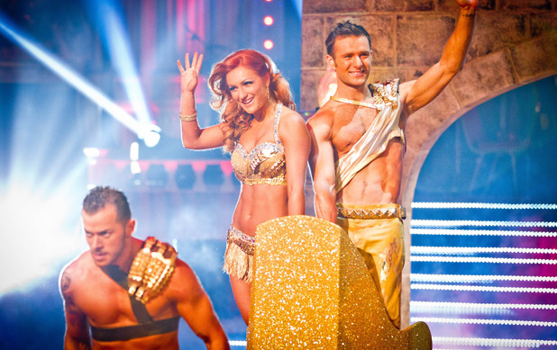 Harry and Aliona enter the Blackpool ballroom