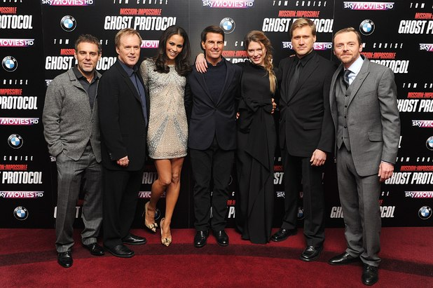 Bryan Burk, Brad Bird, Paula Patton, Tom Cruise,Lea Seydoux, Samuli Edelmann and Simon Pegg