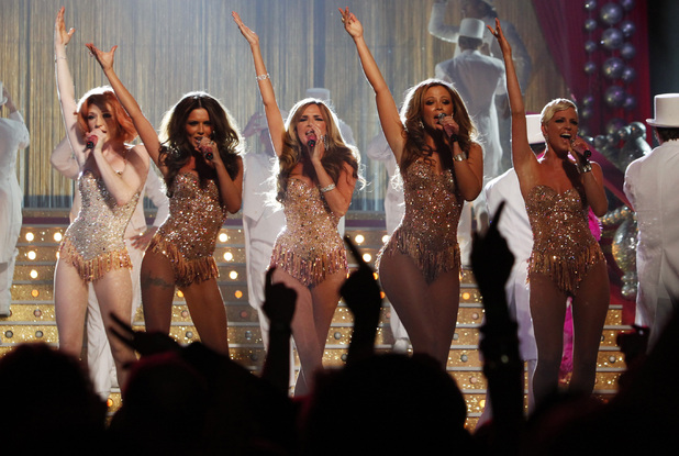 Girls Aloud performing