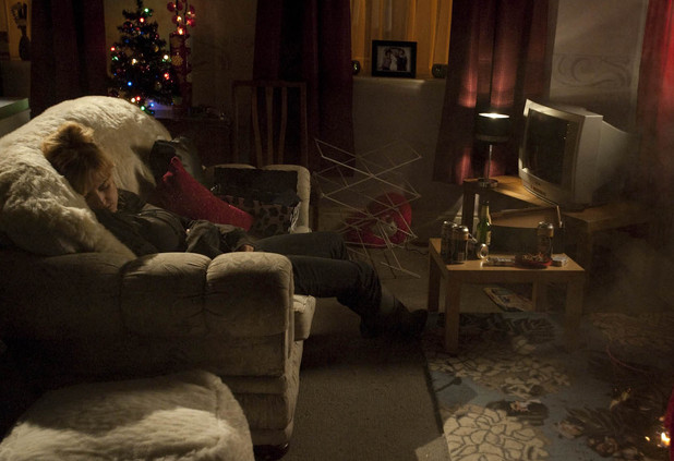 Becky (Katherine Kelly) is in danger on Christmas Day.
