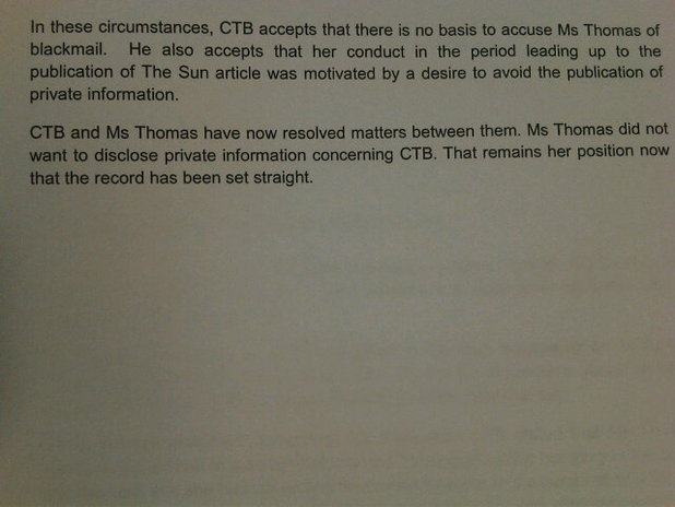 Imogen Thomas Twitter court document