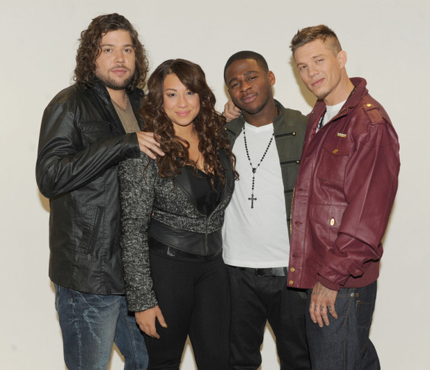 The X Factor USA 2011 Final Four: Josh Krajcik, Melanie Amaro, Marcus Canty and Chris Rene