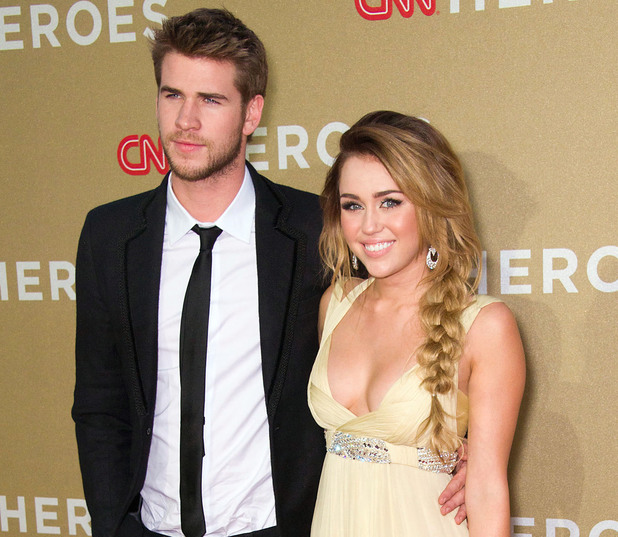 Miley Cyrus, Liam Hemsworth at the CNN Heroes: An All-Star Tribute at The Shrine Auditorium. Los Angeles