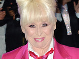 Barbara Windsor on the catwalk at the Terence Trout fashion show