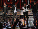 Which three acts made the The X Factor USA final from Melanie Amaro, Marcus Canty, Josh Krajcik and Chris Rene?