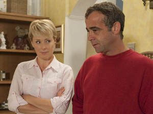 Kevin confronts Sally about seeing Frank. When Sally gets fed up of Kevin's interfereing, she drops a bomb with news of her own