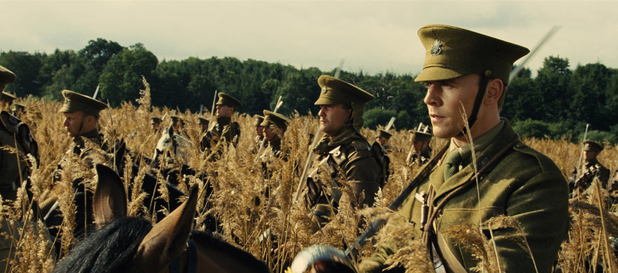 Captain Nicholls prepares to ride into battle with the cavalry