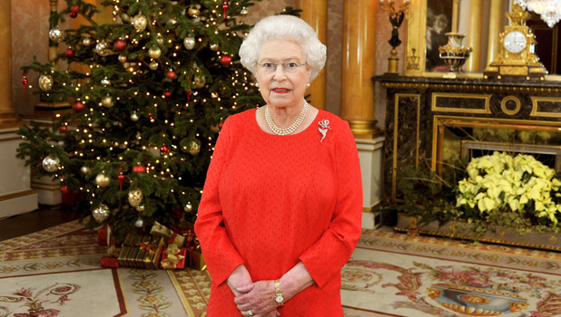 Queen Elizabeth II recording her Christmas Day television broadcast to the Commonwealth 2011