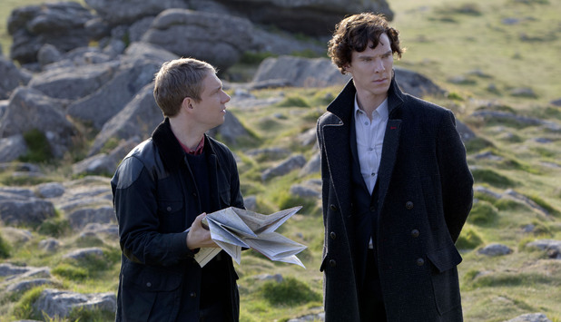 Watson and Sherlock, lost on the moors