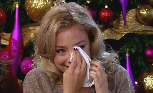 Sasha Parkinson who plays on-screen lesbian Sophie Webster in TV soap Coronation Street appearing on 'This Morning' breaking down in tears discussing her role on the hit TV drama.