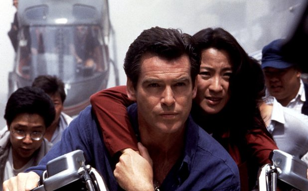 Pierce Brosnan and Michelle Yeoh in James Bond: Tomorrow Never Dies
