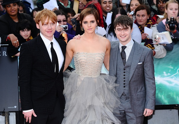 Harry Potter and the Deathly Hallows: Part 2 world premiere, Leicester Square, Rupert Grint, Emma Watson, Daniel Radcliffe