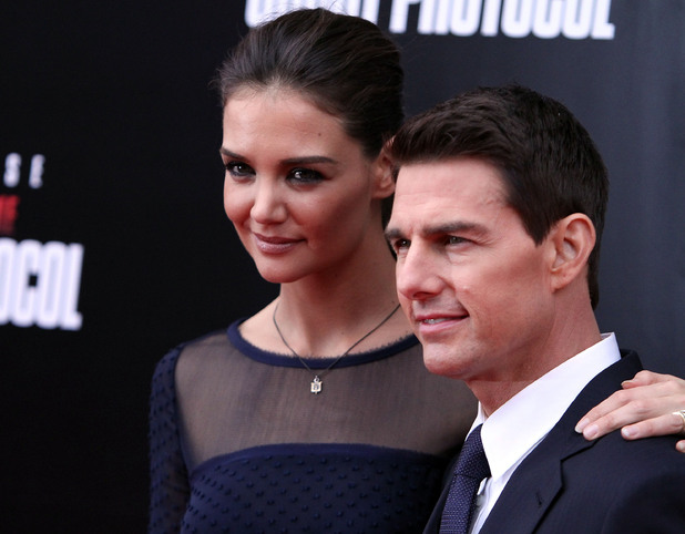 Katie Holmes and Tom Cruise New York Premiere of ''Mission: Impossible - Ghost Protocol at the Ziegfeld Theatre - Arrivals New York City