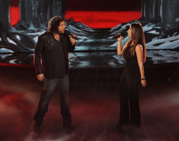 Josh Krajcik and Alanis Morissette perform