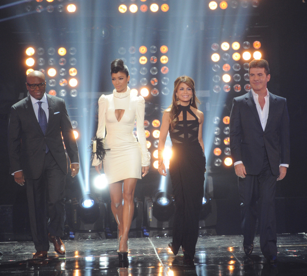 L.A. Reid, Nicole Scherzinger, Paula Abdul and Simon Cowell