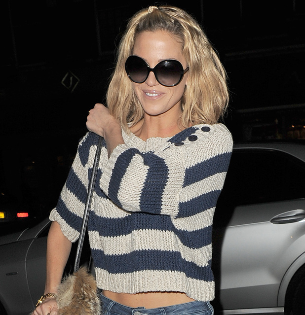 Sarah Harding seen visiting the 'Cadogan Clinic' in Knightsbridge, which specialises in skincare and liposuction. London