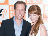 "Judy Greer and Dean Johnson at the 49th Annual New York Film Festival premiere of ""The Descendants"" - Red Carpet Arrivals. New York City"