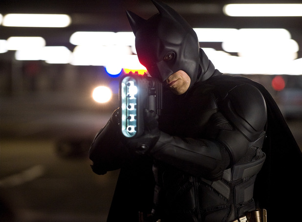 The Dark Knight Rises picture gallery: Batman prepares to open fire.