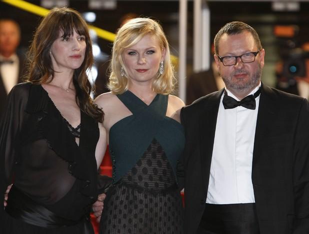 Lars Von Trier, Charlotte Gainsbourg, Kirsten Dunst, Cannes