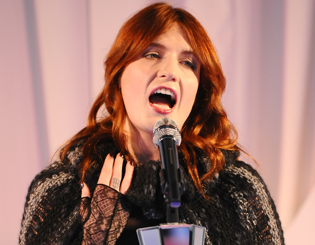 Florence Welch, of Florence and the Machine, opens the Harrods Winter Sale, at Harrods, in Knightsbridge