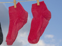 A woman from Kent says that she found a likeness of Jesus Christ in a sock.