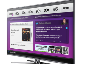 Absolute Radio app on a Samsung TV