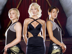 Katee Sackhoff, Tricia Helfer, Grace Park (Battlestar Galactica)
