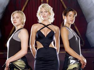 Katee Sackhoff, Tricia Helfer, Grace Park (Battlestar Galactica)