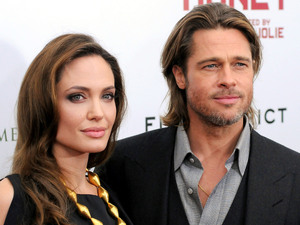 Angelina Jolie and Brad Pitt at the premiere of 'In the Land of Blood and Honey' at the School of Visual Arts - Arrivals. New York City