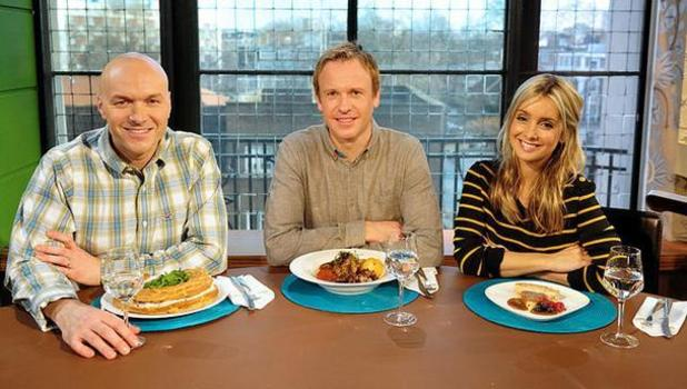 'Something For The Weekend': Simon Rimmer, Tim Lovejoy and Louise Redknapp