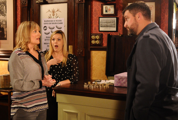 Jane Beale (Laurie Brett) receives a potential job offer