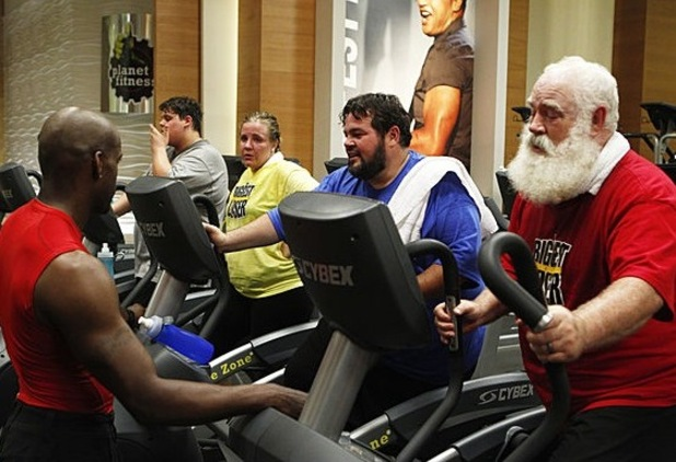 Santa working out, Biggest Loser