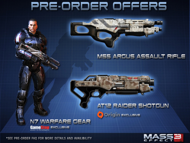 'Mass Effect 3' pre-order items